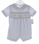 "<img src=""https://p11.secure.hostingprod.com/@grammies-attic.com/ssl/images/blue-sold-1.gif""> NEW Petit Ami Pale Blue Smocked Romper with Embroidered Ducks"