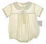 "<img src=""https://p11.secure.hostingprod.com/@grammies-attic.com/ssl/images/blue-sold-1.gif""> NEW Petit Ami Pale Yellow Romper with Embroidered Duck"