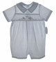 "<img src=""https://p11.secure.hostingprod.com/@grammies-attic.com/ssl/images/blue-sold-1.gif""> NEW Sophie Dess Blue Checked Romper with Embroidered Bunnies"