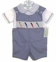 "<img src=""https://p11.secure.hostingprod.com/@grammies-attic.com/ssl/images/blue-sold-1.gif""> NEW Be Mine Navy Checked Smocked Shortall Set with Crayons Embroidery"