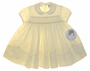 "<img src=""https://p11.secure.hostingprod.com/@grammies-attic.com/ssl/images/blue-sold-1.gif""> NEW Sarah Louise Yellow Smocked Baby Dress with Embroidered Rosebuds"