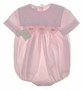 "<img src=""https://p11.secure.hostingprod.com/@grammies-attic.com/ssl/images/blue-sold-1.gif""> NEW Garden of Angels Pale Pink Smocked Baby Bubble with Lace Trimmed Square Collar"