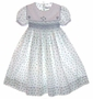 "<img src=""https://p11.secure.hostingprod.com/@grammies-attic.com/ssl/images/blue-sold-1.gif""> Feltman-Brothers White Flowered Smocked Dress for Toddlers and Little Girls"