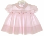 "<img src=""https://p11.secure.hostingprod.com/@grammies-attic.com/ssl/images/blue-sold-1.gif""> Feltman Brothers Pink Smocked Dress with Embroidered Ladybugs"