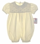 "<img src=""https://p11.secure.hostingprod.com/@grammies-attic.com/ssl/images/blue-sold-1.gif""> NEW Petit Ami Pale Yellow Bubble with Pintucks and Embroidered Tulips"