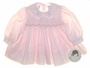 "<img src=""https://p11.secure.hostingprod.com/@grammies-attic.com/ssl/images/blue-sold-1.gif""> NEW Sarah Louise Pink Smocked Baby Dress With Pink and Green Embroidery"