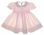 "<img src=""https://p11.secure.hostingprod.com/@grammies-attic.com/ssl/images/blue-sold-1.gif"">NEW Feltman Brothers Pale Pink Smocked Baby Dress with Embroidered Rosebuds"