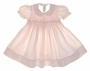 "<img src=""https://p11.secure.hostingprod.com/@grammies-attic.com/ssl/images/blue-sold-1.gif""> Feltman Brothers Pink or Yellow Smocked Baby Dress with Embroidery"