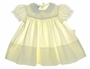 "<img src=""https://p11.secure.hostingprod.com/@grammies-attic.com/ssl/images/blue-sold-1.gif""> NEW Carriage Boutiques Pale Yellow Smocked Baby Dress with Fagoted Yoke"