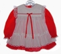 "<img src=""https://p11.secure.hostingprod.com/@grammies-attic.com/ssl/images/blue-sold-1.gif""> Bryan Red Lace Trimmed Baby Dress with White Pinafore"