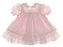 "<img src=""https://p11.secure.hostingprod.com/@grammies-attic.com/ssl/images/blue-sold-1.gif""> Bryan Powder Pink Baby Dress with Pink Flowered Pinafore"
