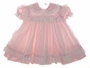 "<img src=""https://p11.secure.hostingprod.com/@grammies-attic.com/ssl/images/blue-sold-1.gif""> Ci Castro Pale Pink Baby Dress with White Eyelet Pinafore"
