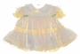"<img src=""https://p11.secure.hostingprod.com/@grammies-attic.com/ssl/images/blue-sold-1.gif""> NEW Bryan Yellow Striped Baby Dress with White Lace Trimmed Pinafore"