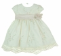 "<img src=""https://p11.secure.hostingprod.com/@grammies-attic.com/ssl/images/blue-sold-1.gif""> NEW Cinderella Ivory Organdy Dress with Peach and Green Embroidery"