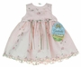 "<img src=""https://p11.secure.hostingprod.com/@grammies-attic.com/ssl/images/blue-sold-1.gif""> NEW Cinderella Pink Organdy Dress with Pink and Green Embroidery"
