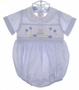 "<img src=""https://p11.secure.hostingprod.com/@grammies-attic.com/ssl/images/blue-sold-1.gif""> Anavini Pale Blue Smocked Baby Romper with Birthday Embroidery"