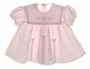 "<img src=""https://p11.secure.hostingprod.com/@grammies-attic.com/ssl/images/blue-sold-1.gif""> Garden of Angels Baby Dress with Embroidery, Ribbons, and Lace in Pink or White"