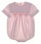 "<img src=""https://p11.secure.hostingprod.com/@grammies-attic.com/ssl/images/blue-sold-1.gif""> Garden of Angels Pale Pink Smocked Baby Bubble with Lace Trimmed Square Collar"
