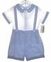 "<img src=""https://p11.secure.hostingprod.com/@grammies-attic.com/ssl/images/blue-sold-1.gif""> NEW Alexis Blue Checked Toddler Shorts Set with White Shirt"