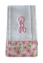 "<img src=""https://p11.secure.hostingprod.com/@grammies-attic.com/ssl/images/blue-sold-1.gif""> NEW Custom Monogrammed Baby Burp Cloth with Lilly Flower Fabric Trim"