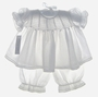 "<img src=""https://p11.secure.hostingprod.com/@grammies-attic.com/ssl/images/blue-sold-1.gif""> NEW Fantaisie Kids White Cotton Voile Smocked Pantaloon Set with Matching Bonnet"