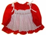 "<img src=""https://p11.secure.hostingprod.com/@grammies-attic.com/ssl/images/blue-sold-1.gif""> Polly Flinders Red Print Baby Dress with White Smocked Eyelet Pinafore"