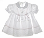 "<img src=""https://p11.secure.hostingprod.com/@grammies-attic.com/ssl/images/blue-sold-1.gif""> Garden of Angels Pintucked Baby Dress with Pastel Embroidered Flowers and Seed Pearls in Pink or White"