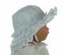 NEW White Sun Bonnet with Tiers of Eyelet Ruffles