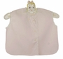 NEW Hand Embroidered Pink Diaper Shirt with Embroidery and Lace Trim