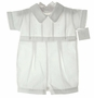 NEW Baby Dove White Cotton Romper with Featherstitching