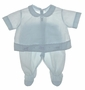 NEW Feltman Brothers Pale Blue Diaper Set with Appliqued Toys