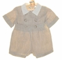 NEW Gordon and Company Natural Linen Button on Shorts Set