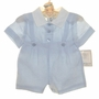 NEW Gordon and Company Pale Blue Linen Baby Button on Shorts Set