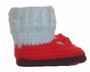 NEW Hand Crocheted Red T-Strap Shoes and Socks Style Booties