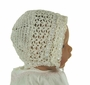 New Ivory Crocheted Bonnet with Shell Pattern