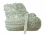 New Ivory Custom Crocheted Booties with Shell Pattern