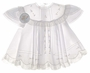 NEW Pauly White Baby Dress with Lace Insertion and Delicate Embroidery