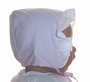NEW Pink Checked Baby Bonnet with White Face Ruffle Szm