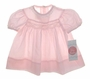 NEW Polly Flinders Pink Smocked Baby Dress with Lace Trim