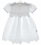 NEW White Cotton Dress with Elegant Openwork Embroidery