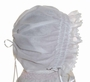 NEW White Smocked Baby Bonnet with Lace Trim Szm
