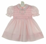 "<img src=""https://p11.secure.hostingprod.com/@grammies-attic.com/ssl/images/blue-sold-1.gif""> Polly Flinders Pink Smocked Dress with Garland Of Flowers Embroidery"