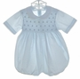 Feltman Brothers Pale Blue Smocked Romper