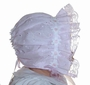 Pink Eyelet Bonnet with Daisy Trim