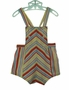 Vintage 1940s Red Blue and Yellow Striped Sunsuit