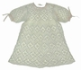 Heirloom Hand Crocheted Baby Dress with Pink Ribbon Insertion