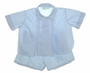 Vintage 1950s Unworn Feltman Brothers Blue Diaper Set with Pleated Front