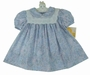 "<img src=""https://p11.secure.hostingprod.com/@grammies-attic.com/ssl/images/blue-sold-1.gif""> NEW Polly Flinders Blue Flowered Dress with Double Lace Trimmed Collar and Matching Diaper Cover"