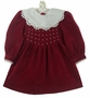 "<img src=""https://p11.secure.hostingprod.com/@grammies-attic.com/ssl/images/blue-sold-1.gif""> Polly Flinders Burgundy Velvet Dress with Inverted Pleats and Lace Trimmed White Collar"
