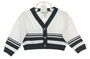 NEW Sarah Louise White and Navy Striped Cardigan Sweater for Baby Boys or Girls